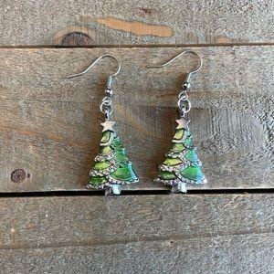 3 for $25 Handmade Christmas Tree Earrings